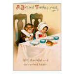 Christian Prayer Puritan Thanksgiving Dinner Card