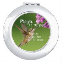 Christian Prayer to the Soul Hummingbird Compact Mirror