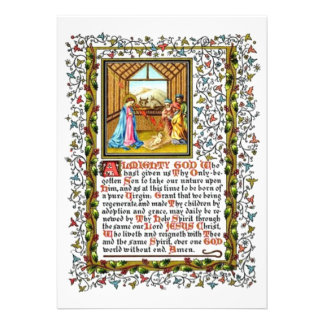 Christian Prayer With Nativity Announcements