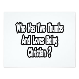 Christian Pride Joke...Two Thumbs Personalized Announcement