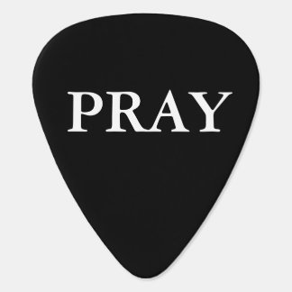 CHRISTIAN  PRINTED PRAY GUITAR PICK