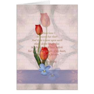 Christian Psalm 73 25-26 Greeting Card