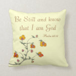 Christian Psalm Pillow, Psalm 46:10