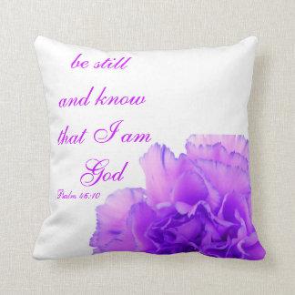 Christian Psalm Pillow, Psalm 46:10 Throw Pillow