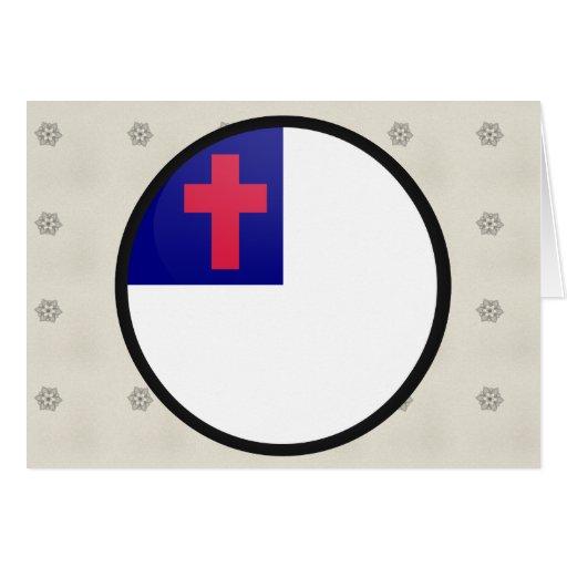 Christian quality Flag Circle Greeting Card