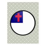 Christian quality Flag Circle Postcard