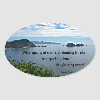 Christian quote about Nature Oval Sticker