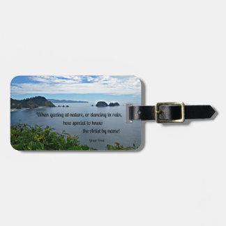 Christian quote about Nature Tag For Luggage