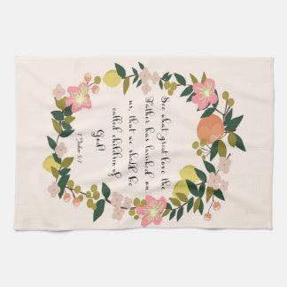 Christian Quote Art - 1 John 3:1 Hand Towel