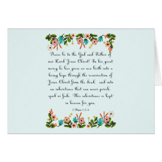 Christian Quote Art - 1 Peter 1:3-4 Card