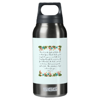 Christian Quote Art - 1 Peter 1:3-4 Insulated Water Bottle