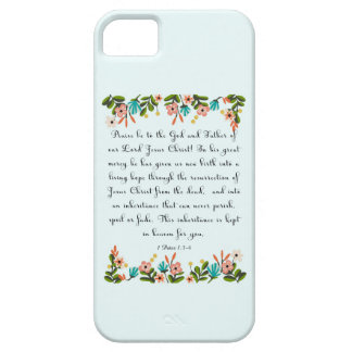 Christian Quote Art - 1 Peter 1:3-4 iPhone SE/5/5s Case