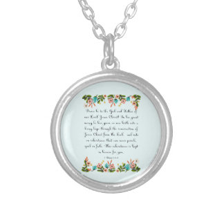 Christian Quote Art - 1 Peter 1:3-4 Round Pendant Necklace