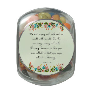 Christian Quote Art - 1 Peter 3:9 Glass Jars
