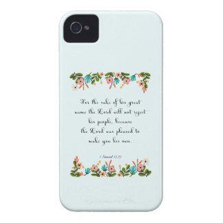 Christian Quote Art - 1 Samuel 12:22 iPhone 4 Cover