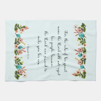 Christian Quote Art - 1 Samuel 12:22 Hand Towel