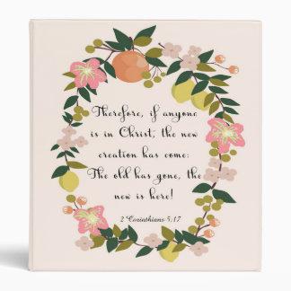 Christian Quote Art - 2 Corinthians 5:17 Binders