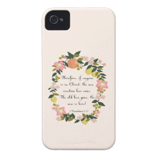 Christian Quote Art - 2 Corinthians 5:17 iPhone 4 Cover