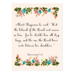 Christian Quote Art - Deuteronomy 33:12 Post Card