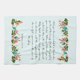 Christian Quote Art - Ephesians 1:13-14 Kitchen Towel