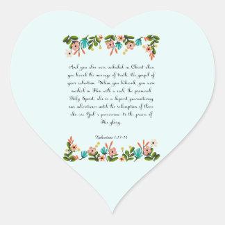 Christian Quote Art - Ephesians 1:13-14 Sticker