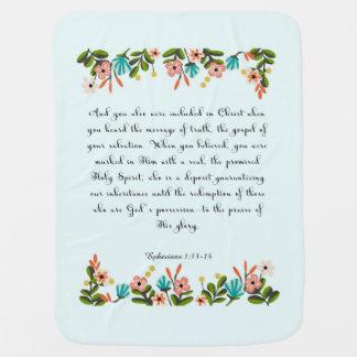 Christian Quote Art - Ephesians 1:13-14 Stroller Blanket