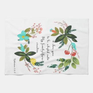 Christian Quote Art - Ephesians 1:4-5 Kitchen Towel