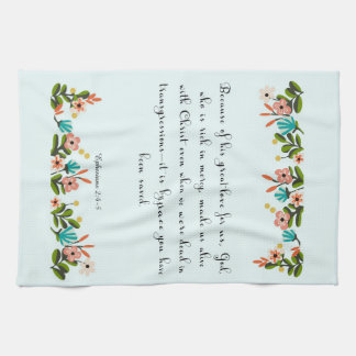 Christian Quote Art - Ephesians  2:4-5 Hand Towels