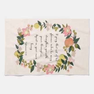 Christian Quote Art - Ephesians 3:16 Towels