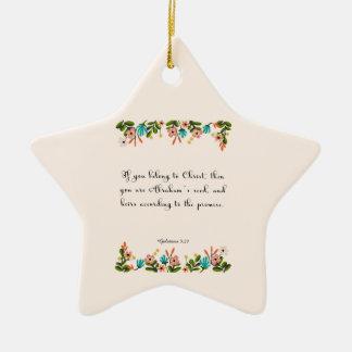 Christian Quote Art - Galatians 3:29 Ceramic Ornament