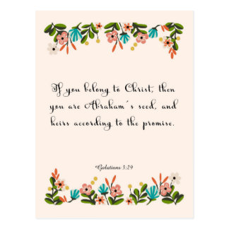 Christian Quote Art - Galatians 3:29 Postcard