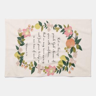 Christian Quote Art - Hebrew 4:16 Towel