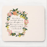Christian Quote Art - Hebrew 4:16 Mousepads
