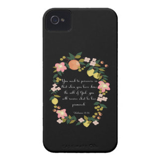 Christian Quote Art - Hebrews 10:36 iPhone 4 Cover