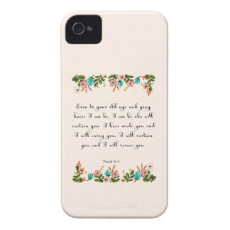 Christian Quote Art - Isaiah 46:4 iPhone 4 Case-Mate Case
