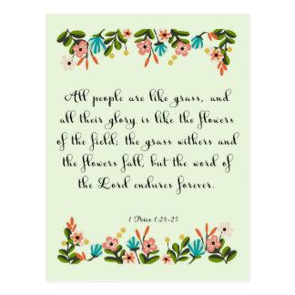 Christian Quote Art - Jeremiah 24:6 Postcard