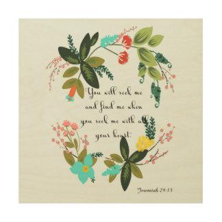 Christian Quote Art - Jeremiah 29:13