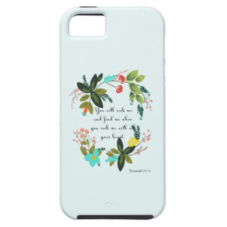 Christian Quote Art - Jeremiah 29:13 iPhone SE/5/5s Case