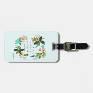 Christian Quote Art - Jeremiah 29:13 Luggage Tag