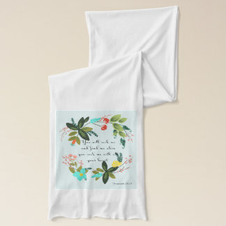 Christian Quote Art - Jeremiah 29:13 Scarf