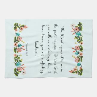 Christian Quote Art - Jeremiah 31:3 Hand Towel