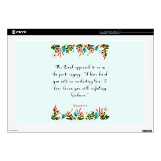 "Christian Quote Art - Jeremiah 31:3 Skin For 17"" Laptop"