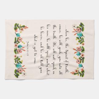 Christian Quote Art - John 16:12-13 Kitchen Towels