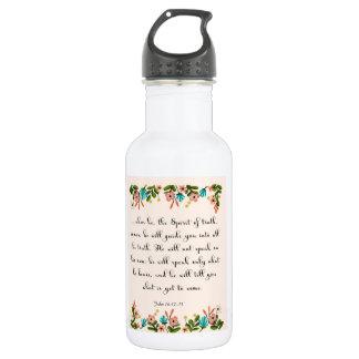 Christian Quote Art - John 16:12-13 Stainless Steel Water Bottle