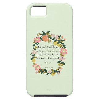 Christian Quote Art - Matthew 7:7 iPhone SE/5/5s Case