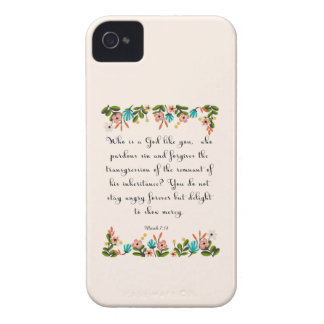 Christian Quote Art  - Micah 7:18 iPhone 4 Case
