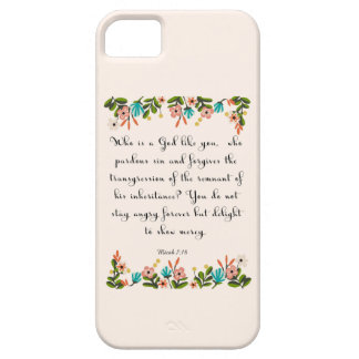 Christian Quote Art  - Micah 7:18 iPhone SE/5/5s Case