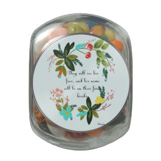 Christian Quote Art - Numbers 6:25 Glass Jar