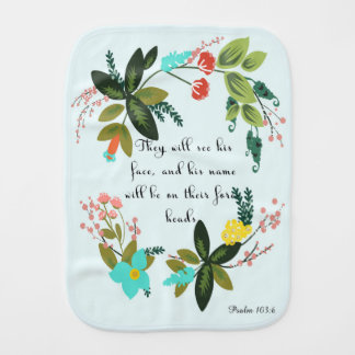 Christian Quote Art - Numbers 6:25 Burp Cloths