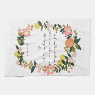 Christian Quote Art - Psalm 103:19 Kitchen Towel